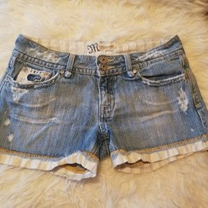 Miss me Jean shorts size 28 distressed
